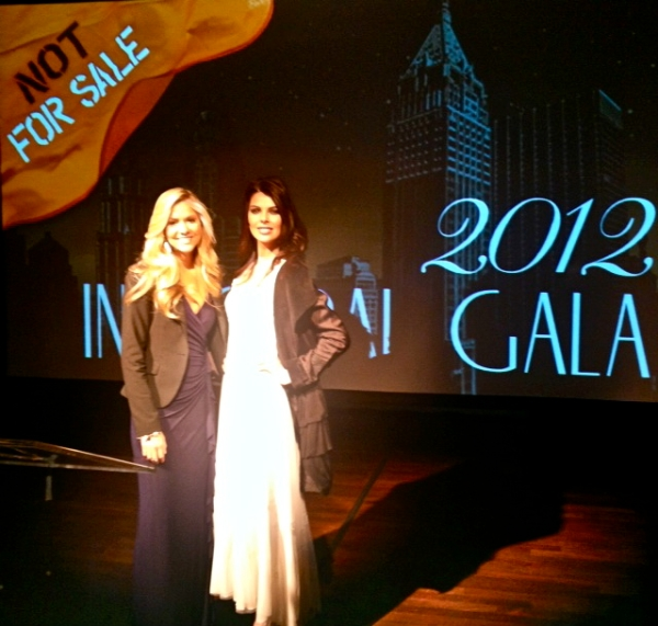 Linda Taylor and Miss USA 2008 Kirsten Haglund at Not For Sale Inaugural Gala New York 2012